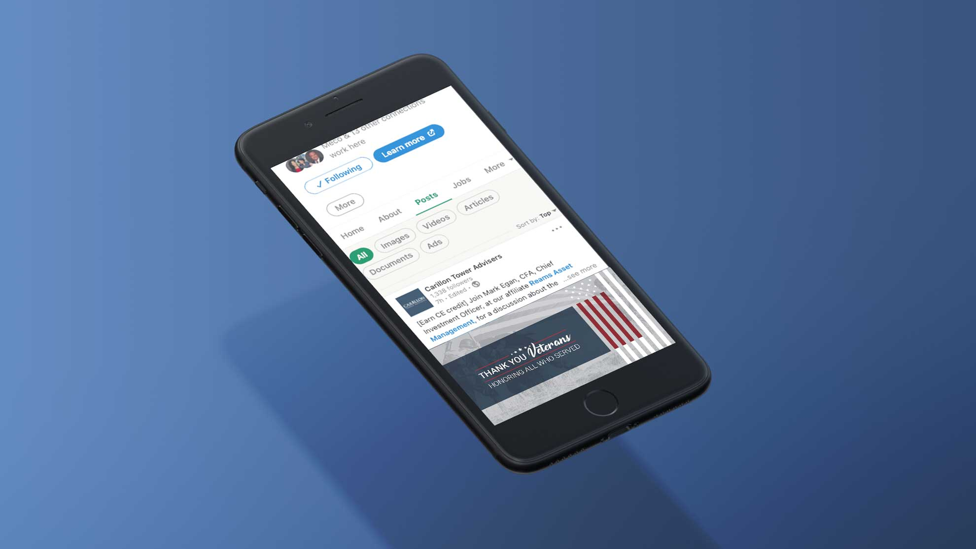 CTA-LinkedIn-VetsDay-iPhoneX-Mockup